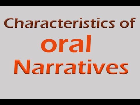 characteristics of oral narratives