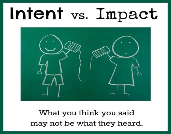 INTENT VS IMPACT – LEARN TO USE EXCELLENT COMMUNICATION SKILLS